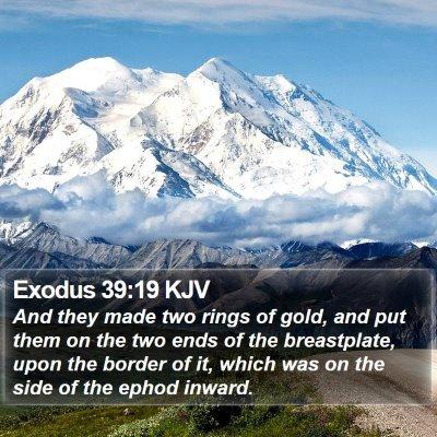 Exodus 39:19 KJV Bible Verse Image