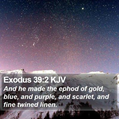 Exodus 39:2 KJV Bible Verse Image
