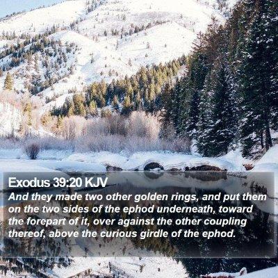 Exodus 39:20 KJV Bible Verse Image