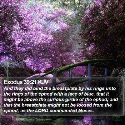 Exodus 39:21 KJV Bible Verse Image