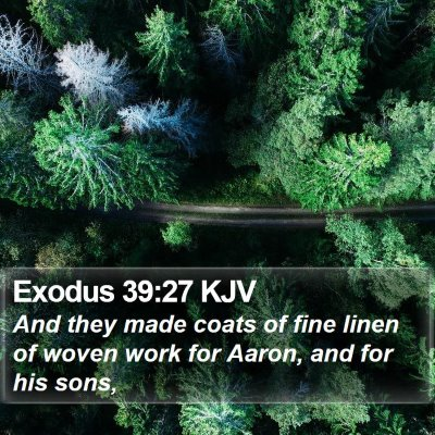 Exodus 39:27 KJV Bible Verse Image