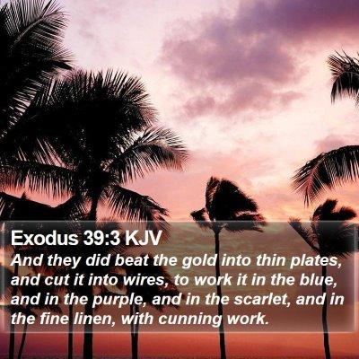 Exodus 39:3 KJV Bible Verse Image