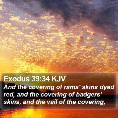 Exodus 39:34 KJV Bible Verse Image