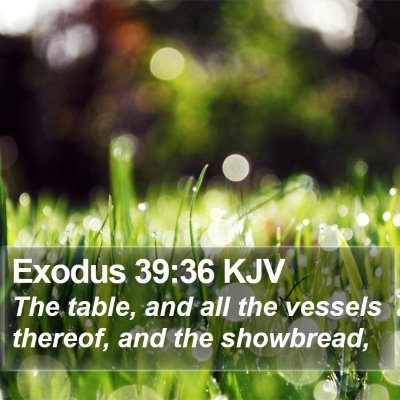 Exodus 39:36 KJV Bible Verse Image