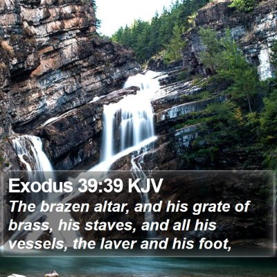 Exodus 39:39 KJV Bible Verse Image
