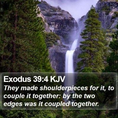 Exodus 39:4 KJV Bible Verse Image