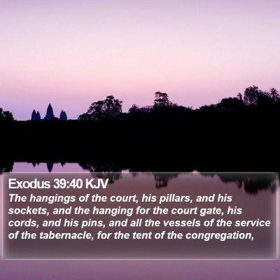 Exodus 39:40 KJV Bible Verse Image