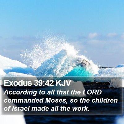Exodus 39:42 KJV Bible Verse Image