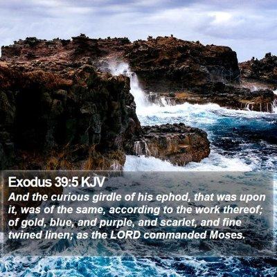 Exodus 39:5 KJV Bible Verse Image