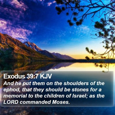 Exodus 39:7 KJV Bible Verse Image