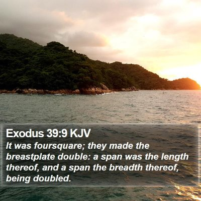 Exodus 39:9 KJV Bible Verse Image