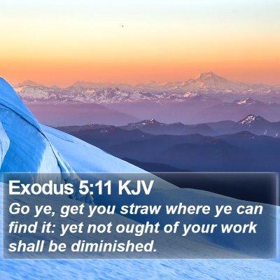 Exodus 5:11 KJV Bible Verse Image