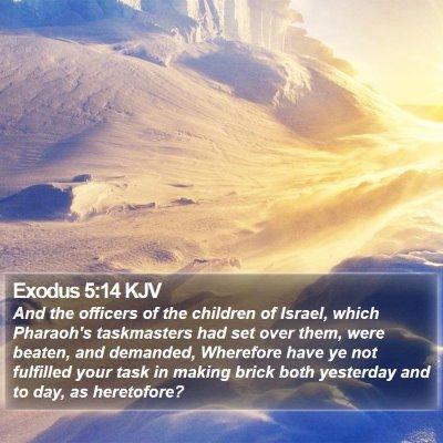 Exodus 5:14 KJV Bible Verse Image