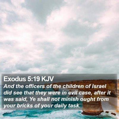 Exodus 5:19 KJV Bible Verse Image