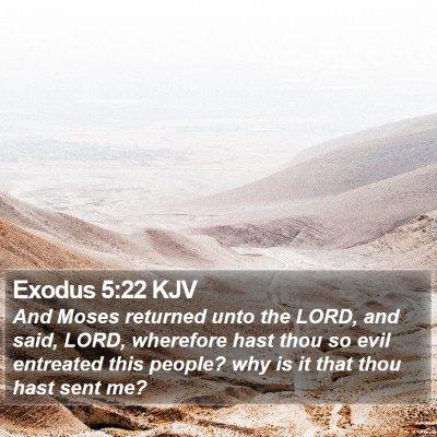 Exodus 5:22 KJV Bible Verse Image