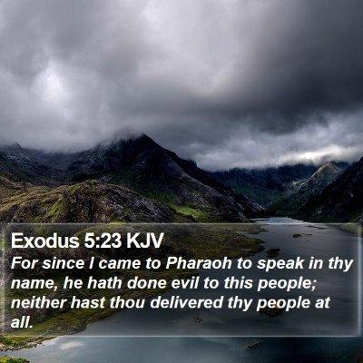 Exodus 5:23 KJV Bible Verse Image