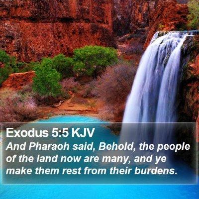 Exodus 5:5 KJV Bible Verse Image