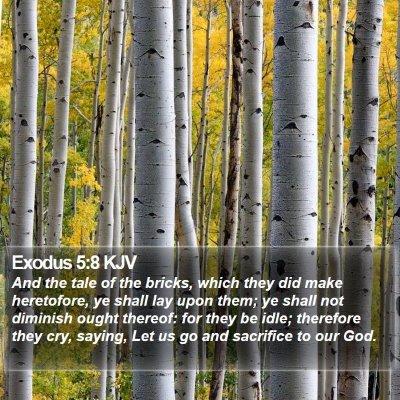 Exodus 5:8 KJV Bible Verse Image