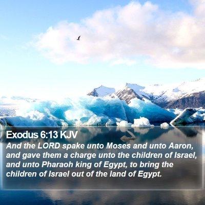 Exodus 6:13 KJV Bible Verse Image