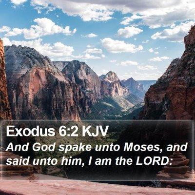Exodus 6:2 KJV Bible Verse Image