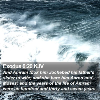 Exodus 6:20 KJV Bible Verse Image