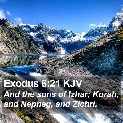 Exodus 6:21 KJV Bible Verse Image