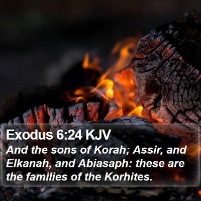 Exodus 6:24 KJV Bible Verse Image