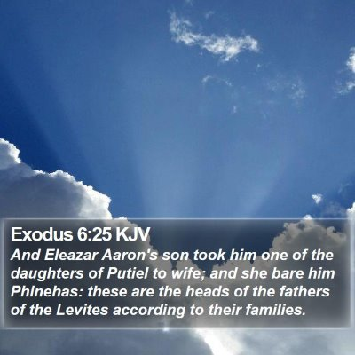 Exodus 6:25 KJV Bible Verse Image