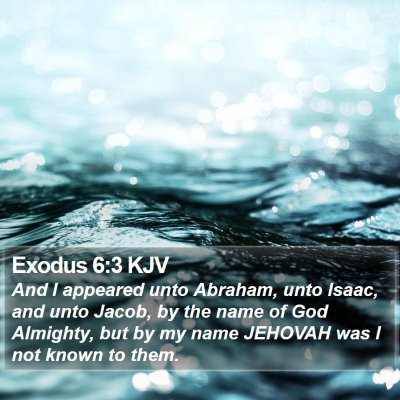Exodus 6:3 KJV Bible Verse Image