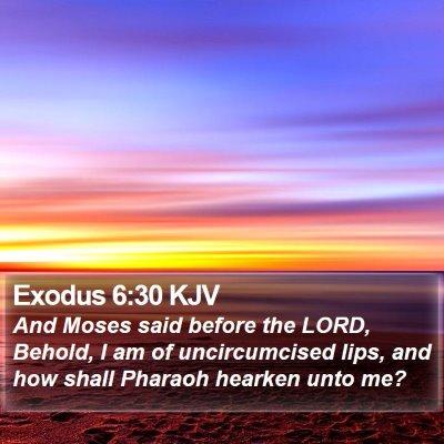 Exodus 6:30 KJV Bible Verse Image