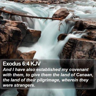 Exodus 6:4 KJV Bible Verse Image