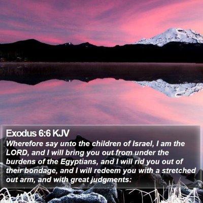 Exodus 6:6 KJV Bible Verse Image
