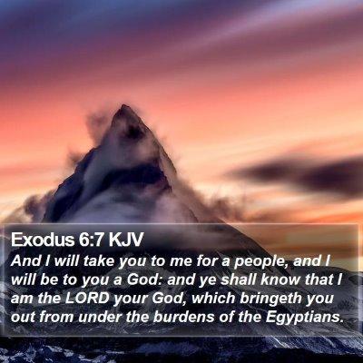 Exodus 6:7 KJV Bible Verse Image