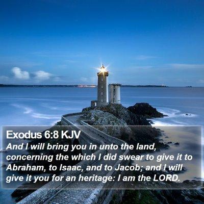 Exodus 6:8 KJV Bible Verse Image