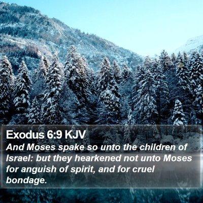 Exodus 6:9 KJV Bible Verse Image