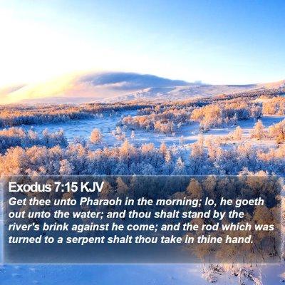 Exodus 7:15 KJV Bible Verse Image