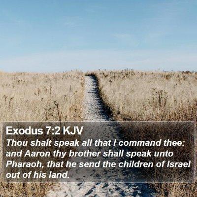 Exodus 7:2 KJV Bible Verse Image