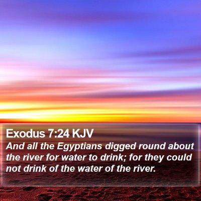 Exodus 7:24 KJV Bible Verse Image