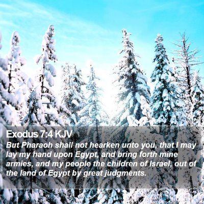 Exodus 7:4 KJV Bible Verse Image