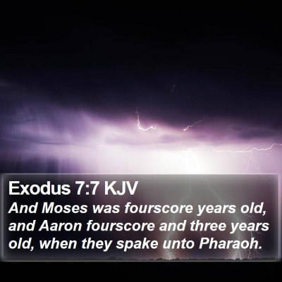 Exodus 7:7 KJV Bible Verse Image
