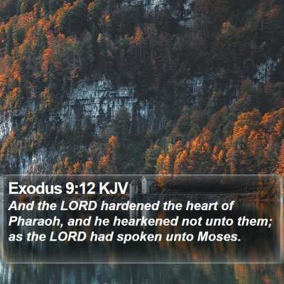 Exodus 9:12 KJV Bible Verse Image
