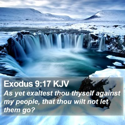 Exodus 9:17 KJV Bible Verse Image