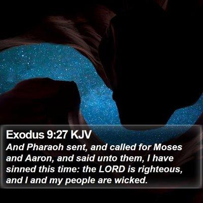 Exodus 9:27 KJV Bible Verse Image