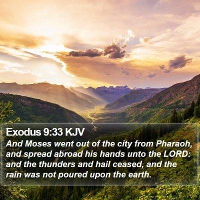 Exodus 9:33 KJV Bible Verse Image