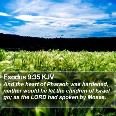 Exodus 9:35 KJV Bible Verse Image