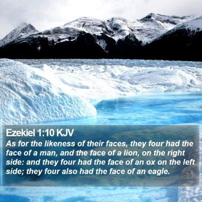 Ezekiel 1:10 KJV Bible Verse Image