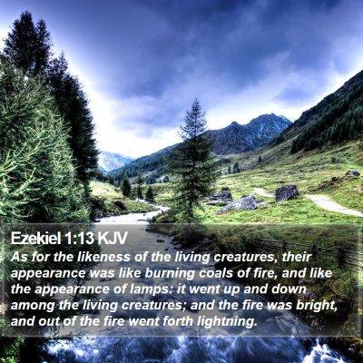 Ezekiel 1:13 KJV Bible Verse Image