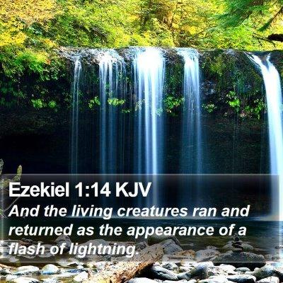Ezekiel 1:14 KJV Bible Verse Image