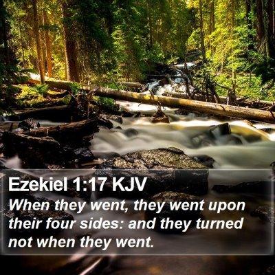 Ezekiel 1:17 KJV Bible Verse Image