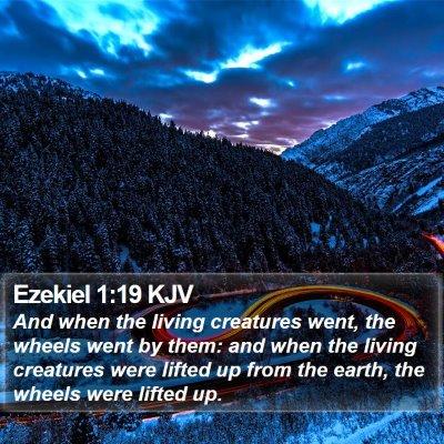 Ezekiel 1:19 KJV Bible Verse Image